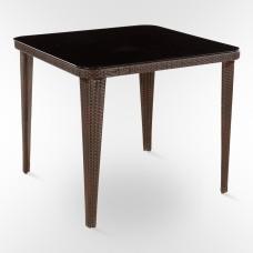 Стол из искусственного ротанга -90x90см Т-249