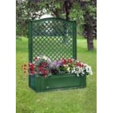 Большой ящик для растений с шпалерой 100 см, зеленый