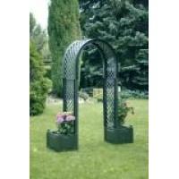 Садовая арка с ящиком для растений, зеленая