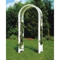 Садовая арка с штырями для установки, белая