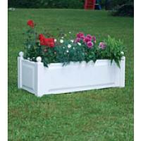Прямоугольный ящик для растений, белый