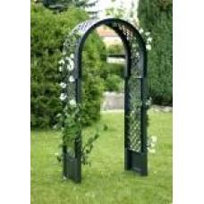 Садовая арка с штырями для установки, зеленая