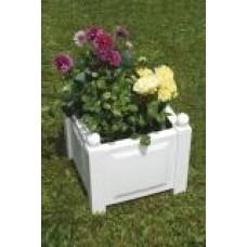 Квадратный ящик для растений, белый