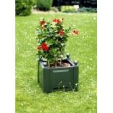 Квадратный ящик для растений, зеленый