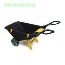 Садовая тачка Helex 80л. черный зеленый желтый