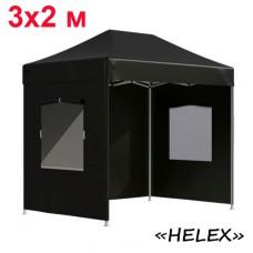 Быстросборный шатер автомат 4322 Helex, 3х2м, черный