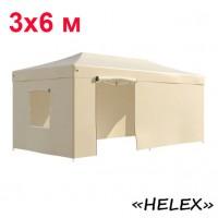 Быстросборный шатер автомат 4362 Helex, 3х6м, бежевый