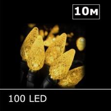 LED гирлянда Шишки 10м желтый