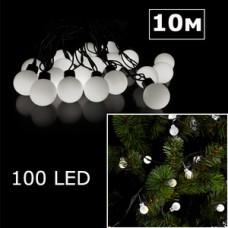 LED гирлянда шарики 10м белый