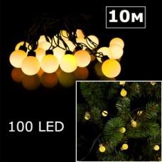 LED гирлянда шарики 10м желтый