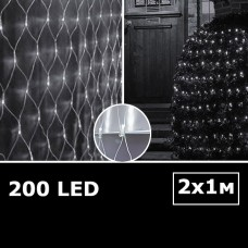 LED сетка с одинарными светодиодами 2х1м белый с контроллером