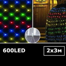 LED (сетка) занавес Водопад 2х3м RGB