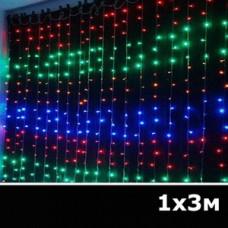 LED занавес водопад 1x3м RGB