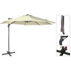 Зонт садовый складной Koopman ф300 купол кремовый FD4300910