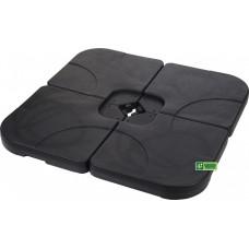 Основание для зонта садового, комплект 4 части (50х50х8см), пластик, черный X93100020